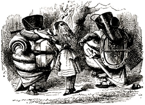 Alice and the Tweedledums.1871.John Tenniel/USPD.pub.date/Commons.wikimedia.org