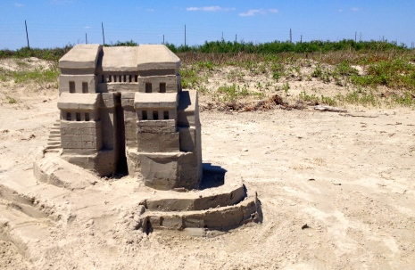 front view of sand castle, Galveston ALl rights reserved. copyrighted. NO permissions granted for image use
