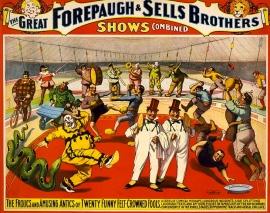 1899 circus poster/Strobridge Litho.Co./Loc/USPD.pub.date/Commons.wikimedia.org)