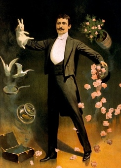 magician.1899. Zan Zig./ Strobridge Litho.Co./LoC/USPD.pub.date/Commons.wikimedia.org)