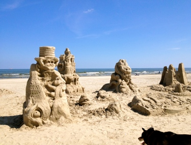 NO permissions granted. 2015 AIA sandcastle Contest. Jurassic Dr. Seuss scene one day after. ALL rights reserved/copyright