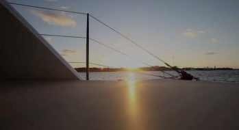 view of shore from Gunboat 22 View of shore from Gunboat/Yachting World/youtube screenshot)