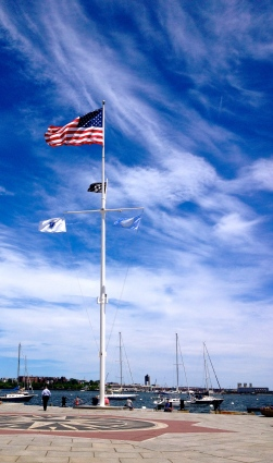 Flag in Boston. NO permissions granted. ALL rights reserved. Copyrighted image