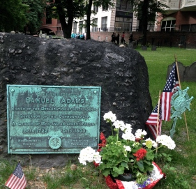Boston grave of Samuel Adams, Revolutionary partiot. (All right reserved. NO permissions granted. Copyrighted