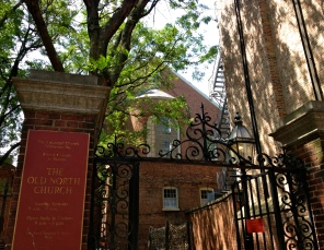 Old North Church gate. All rights reserved. Copyrighted image. NO permissions granted