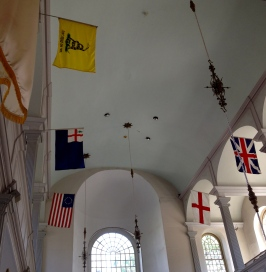 NO permissions granted.Flags hanging in the Old North Church, Boston, MA. ALL rights reserved. Copyrighted