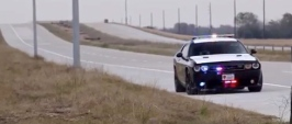 police car escort. Hennessey C7 run on 290 (Screenshot/youtube. Hennessey)