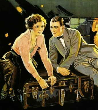 1922 couple closing suitcase/film poster for French Heels/Holtre Productions. W.W.Hodkinson/USPD: pub.date/Commons.wikimedia.org)