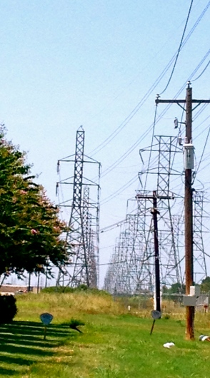 Row of power line towers.ALL rights reserved. Copyrighted. NO permissions grant
