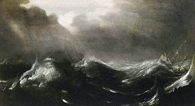 stormy seas. Jan Porcellis (1583:1585-1632) (Web Gallery of Art/USPD: date, reprod.of PD art/Commons.wikimedia.org)