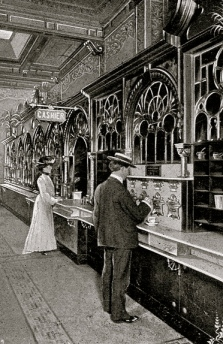 itchBOT would have loved to see this 1904 version of an automat in Philadelphia. (USPD.pub.date/Commons.wikimedia.org )