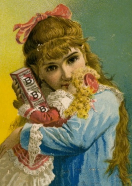 vintage 1900 girl and doll. Foster Milburn and CO/:Miami U lib./USPD:Exp.cr., pub date/Commons.wikimedia.org