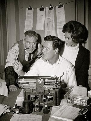 woman and men in office.1963. Twilight Zone.Printer's Devil episode/CBS/USPD: pub.date.no CR/Commons.wikimedia.org)