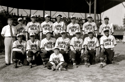 1931 Humble Oils. Semi pro team picture ((Image: Historically Houston/Houston lifestyles and Homes Mag.))