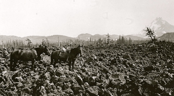 Lava Field, Deschutes Forest, Oregon,1922. /Dept of Ag.NARA/US PD:Commons.wikimedia.org)