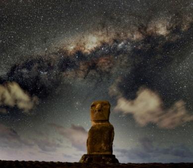 Stars and sky over Easter Island.(Image by: Astrophotographer Brian Hancock. Milky Way over moari near Hanga Roa on Easter Island/Space.com/NASA)
