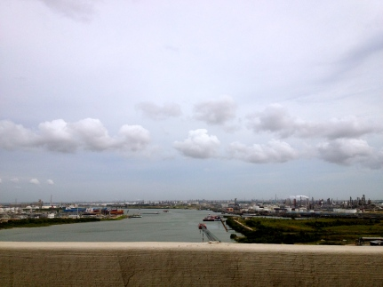 Houston ship channel (ALL rights reserved) from bridge. NO permissions granted copyrighted