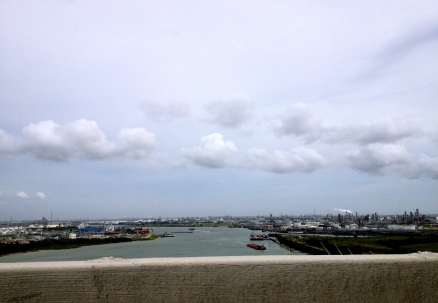View of Houston Ship Channel (NO permissions granted) from bridge (ALL rights reserved, copyrighted)