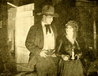 """Western couple. 1919. """"Where the West Begins"""". William Russell Production/Moving Picture World/USPD.pub.date:Commons.wikimedia.org"""