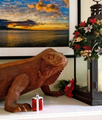 ALL rights reserved for iguana/lizard image. NO permissions granted. Copyrighted