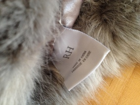 NO permissions granted of fur hat label. ALL rights reserved. Copyrighted