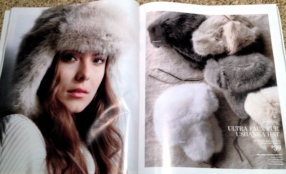 Model in fur hat (Image from Restoration Hardware 2015 Holiday catalogue)