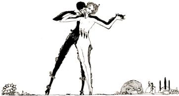 1922 dancing couple. Fairy tales of Charles Perrault, Clarke, illust/NYpub.lib/USPD.pub.date/Commons.wikimedia.org)