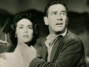 Frightened couple. 1953. It came from OUter Space trailer:Universal Pictures:USPD.pub.date/Commons.wkimedia.org)