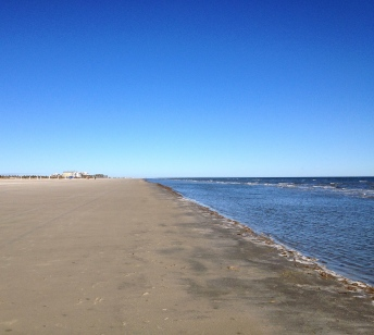 Wide open Galveston beach in February. ALL rights reserved. Copy righted. NO permissions granted