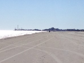 Beach looking westward towards the Pleasure Pier rides. All rights reserved. NO permissions granted. Copy righted