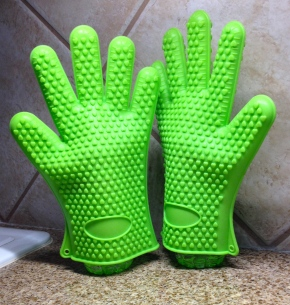 Pair of green gloves gossiping. ALL rights reserved. Copyrighted NO permissions granted.