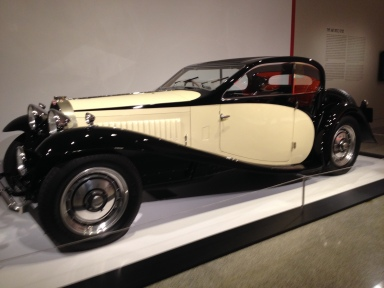 Side view of Bugatti in the MFAH exhibit. ALL rights reserved. No permissions granted. Copyrighted