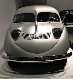 1936 Stout Scarab. A sleek silver Art Deco van. NO permissions granted. ALl rights reserved Copyrighted.
