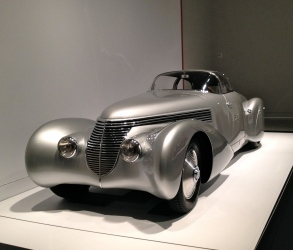 "ca Silver Art Deco era car. Hispano-SuizaH6B Dubonnet""Xenia"" coupe"