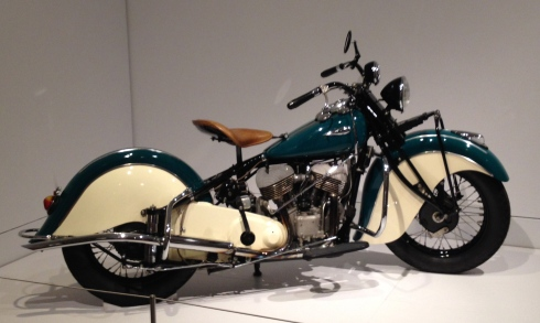 Indian Chief model motorcycle for MFAH Art Deco Vehicles exhibit. ALL rights reserved. Copyrighted. NO permissions granted