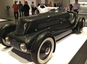 car. MFAH exhibit of Art Deco Cars. 1934 Edsel Fords Model 40 Special Speedster. ALl rights reserved. No permissions granted Copyrighted