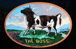 Bull in art. Gary Halvorston, Oregon State Archives/Commons.wikimedia.org)