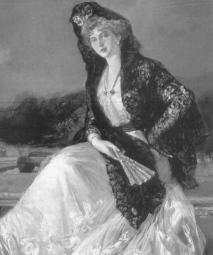Queen Victoria Eugenie of Battenberg.1910. Joauin Sorolla/ USPD: date of pub, artist life/Commons.wikimedia.org)