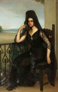 woman.Raquel Meller.1910. Julio Romero de Torres:USPD.artist life/Commons.wikimedia.org