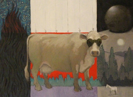 Dangerous cow. The Cattle Thief by artist O. Gail Poole released to PD (Commons.wikimedia.org)