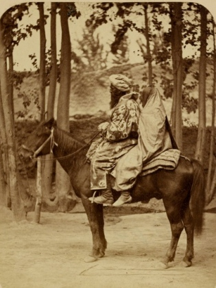 couple on horse. 1840-1888.Centra Asia. (Aleksandr Kun /USPD.pub.date, reprod of PD image/Commons.wikimedia.org)