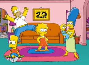 Simpson family at home by their couch.. (Gabriel Sheppard/Commons.wikimedia.org)