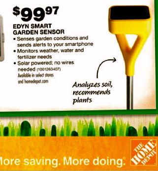 Plant garden sensor. (homedepot.com)