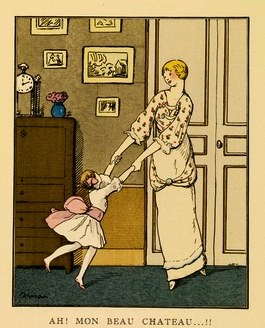 "Mother and child.1913.""Ah, my beautiful mansion"" Gazette du Bon Ton No6 (USPD.pub.date/Commons.wikimedia.org)"