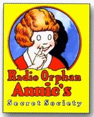 girl in advertisement.. Radio Orphan Annie's Secret Society membership booklet/radioarchives.com