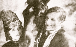 man and woman with horse. 1921 Film Black Beauty. (Photoplay magazine. Vitagraph Co. of America. USPD: pub.date, exp. cr./WIkimedia.org))