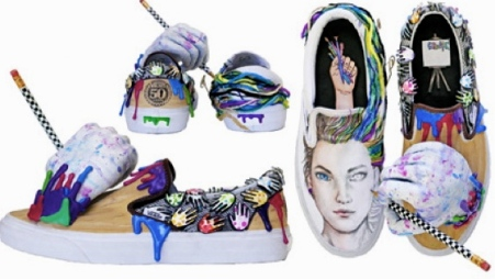 sculptural shoes in art category. (Entry by Friendswood HS Friendswood, TX. vanscustomculture.votenow.tv/)