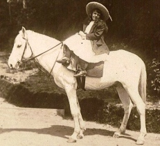 girl on horse. late 19th century, maybe India, (Unknown author, Flickr/USPD.pub.date, no cr/Commons.wikimedia.org)
