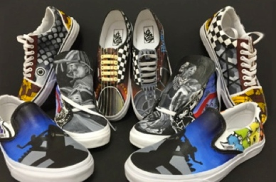 musical themed shoes.(Music category entry by James Pace Early College HS.Brownsville, TX. vanscustomculture.votenow.tv/)