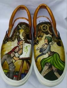 shoe with artistic design. Orange HS.ORange, CA (vanscustomculture.votenow.tv)